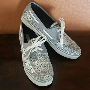 Sperry Top-Sider Metallic Animal Print Boat Shoes